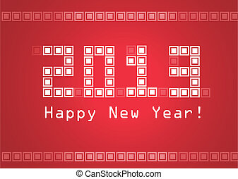 Happy New Year - 2013 Year of the Snake design Vector eps8