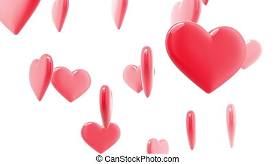 Beautiful glossy Hearts Looped hd