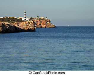 Coastal Lighthouse - Lighthouse in Porto Colom Majorca -...