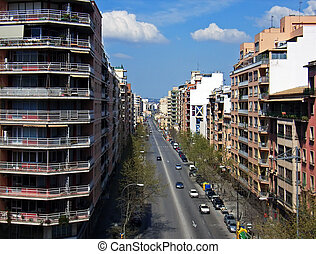 City Life - Street in the city of Palma de MAllorca Spain
