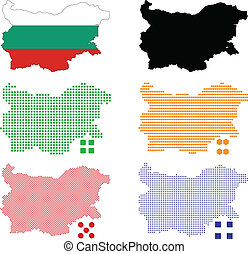 Bulgaria - Vector illustration pixel map of Bulgaria