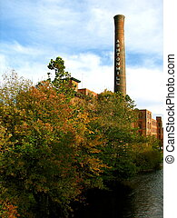 Old Mill along the Blackstone River - This is Ashton Mills...