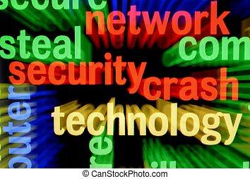 sicurezza, abbattersi, rete