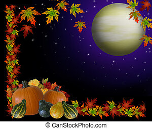 Autumn Harvest Moon Background - Image and Illustration...
