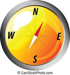 Vector icon. Compass