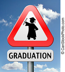 graduation at university college or high school finish...