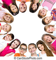 Group of smiling kids