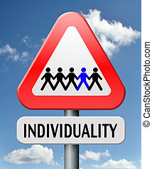 individuality stand ou from crowd being different having a...