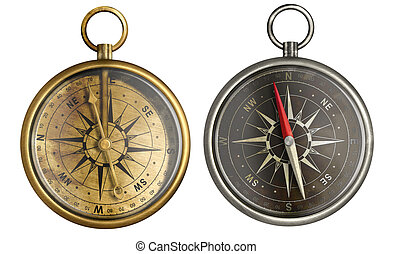 brass antique compass collection