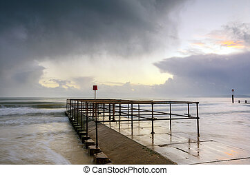 Bournemouth Jetty - Small jetty on Boscombe beach near...