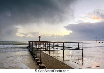 Bournemouth Jetty - Small jetty on Boscombe beach near...