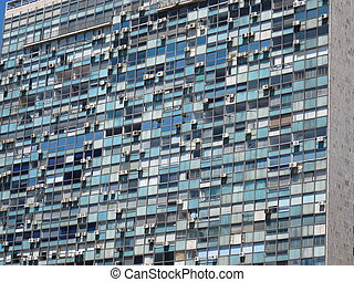 Iconic Montevideo Architecture - Mondrian-like surface of...