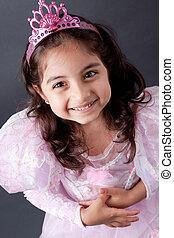 Beautifull, indiër, meisje, prinsesje, uitrusting