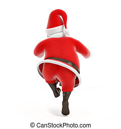 Santa claus - 3d rendered illustration of a little santa