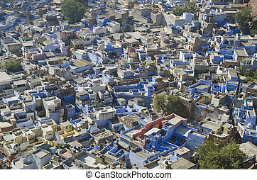 blue city Jodhpur in Rajasthan, India - beautiful blue city...