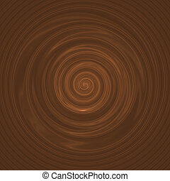 Creamy Milk Chocolate - A milk chocolate swirl illustration...