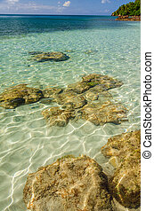 Crystal Clear Water - Sunlight reflecting on crystal clear...