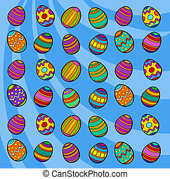 easter eggs background cartoon illustration