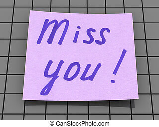 miss you. text