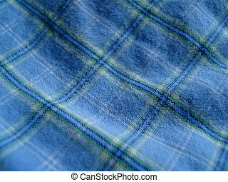 Blue Tartan - Blue tartan fabric