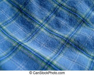 Blue Tartan - Blue tartan fabric.