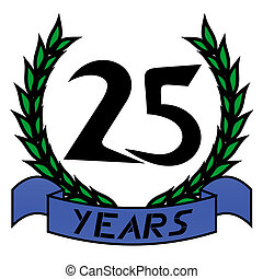 25 year - Creative design of 25 year