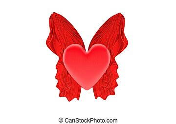 voando, Coração