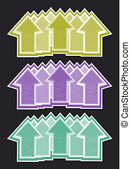 Arrows art color - Creative design of arrow art color