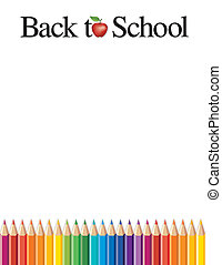 Back to School - Back to school background, colored pencils,...