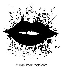 Black kiss - Creative design of black kiss