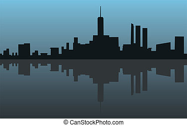Blue city icon - Creative design of blue city icon