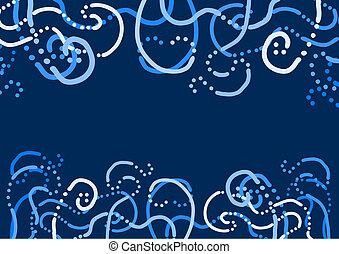 Blue waves - Creative design of blue waves