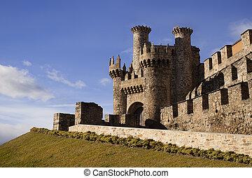 Templar castle in Ponferrada. - Home or main entrance of...