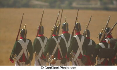 Battle of 1812 - Russian troops during historical...