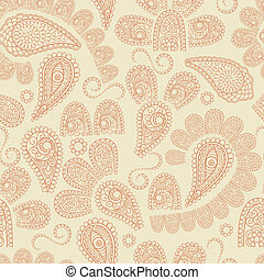 Vector Seamless Paisley Pattern - vector seamless pattern...