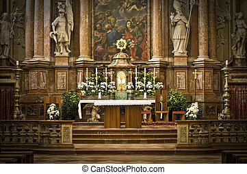 Altar in an Abbey in Austria