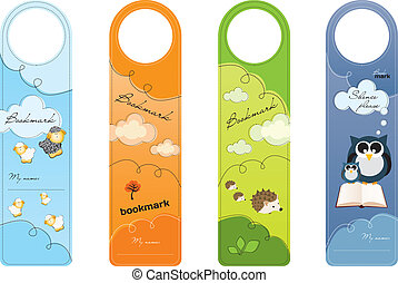 Bookmarks for children, colorful