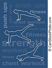 The silhouettes of man working out