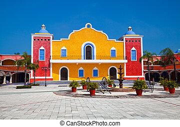 Mexican Hacienda in the Mayan Riviera, Mexico