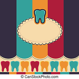 Colorful card with tooth