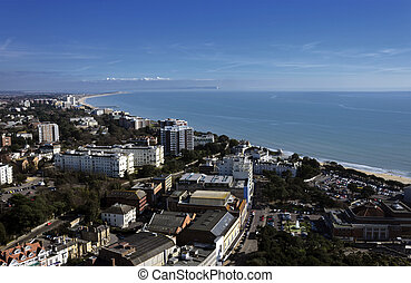 Aerial Vew of Bournemouth Town Center - An aerial view of...