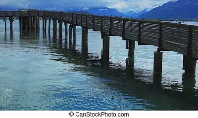 Wooden bridgee.