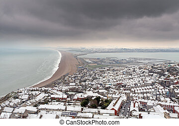Chesil beach in winter - Portland dorset and chesil beach...