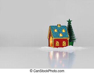 Christmas festive light in house