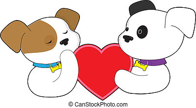 Puppies and Heart