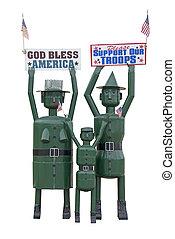 vår, stöd,  troops