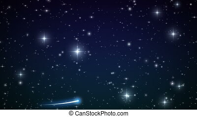 Heart made of twinkling Stars in the Beautiful night sky. HD...