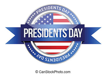 presidents day us seal and banner illustration design