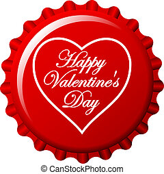 Valentine's bottle cap