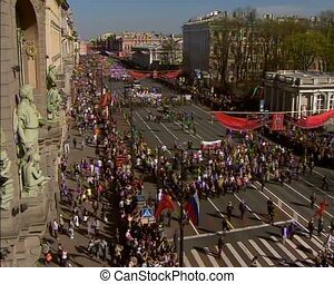 Parade on victory Day - Festive Parade and demonstration on...